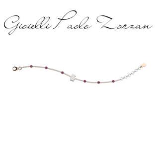 Bracciale Nanan bimba in argento e perline lilla NAN0188      Bambini Bracciali Bracciali a Maglia Gioielli Donna Gioielli per bambini