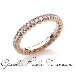 Anello Artlinea eternity in oro 18kt con cuori laterali, con diamanti bianchi misura 1.50 mm ADF218DB-LH    Anelli Anelli Eternity Gioielli Donna
