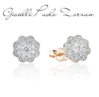 Orecchini Artlinea in oro 18kt con pavé di diamanti OD338/DB-LK    Gioielli Donna Orecchini Orecchini a Lobo