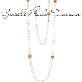Collana Artlinea Chanel in argento 925 dorata e smaltata ZCL997-MG    Collane Collane Lunghe Gioielli Donna