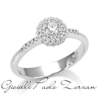Anello Artlinea in oro bianco 18 kt con pavé di diamanti AD657/DB-LB   Anelli Gioielli Donna