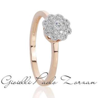 Anello Artlinea in oro 18 kt con pavé di diamanti AD747/DB-LK   Anelli Gioielli Donna
